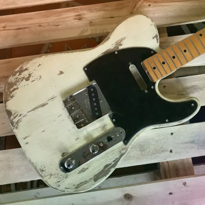 white relic tele ngs guitars